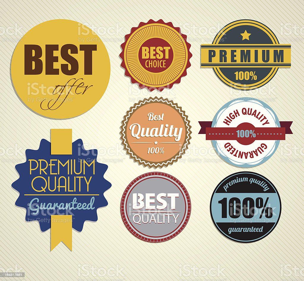 vector stickers royalty-free stock vector art