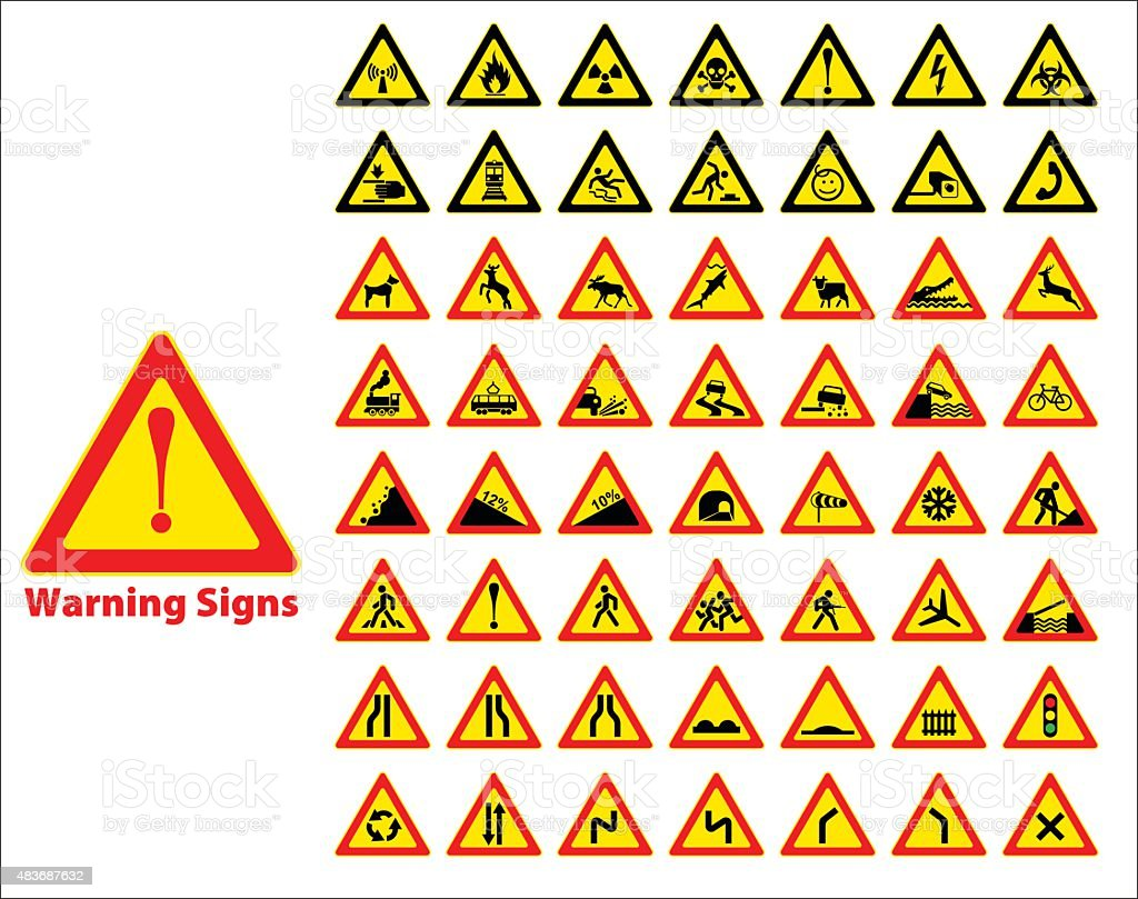 Vector stock illustration of warning sign vector art illustration
