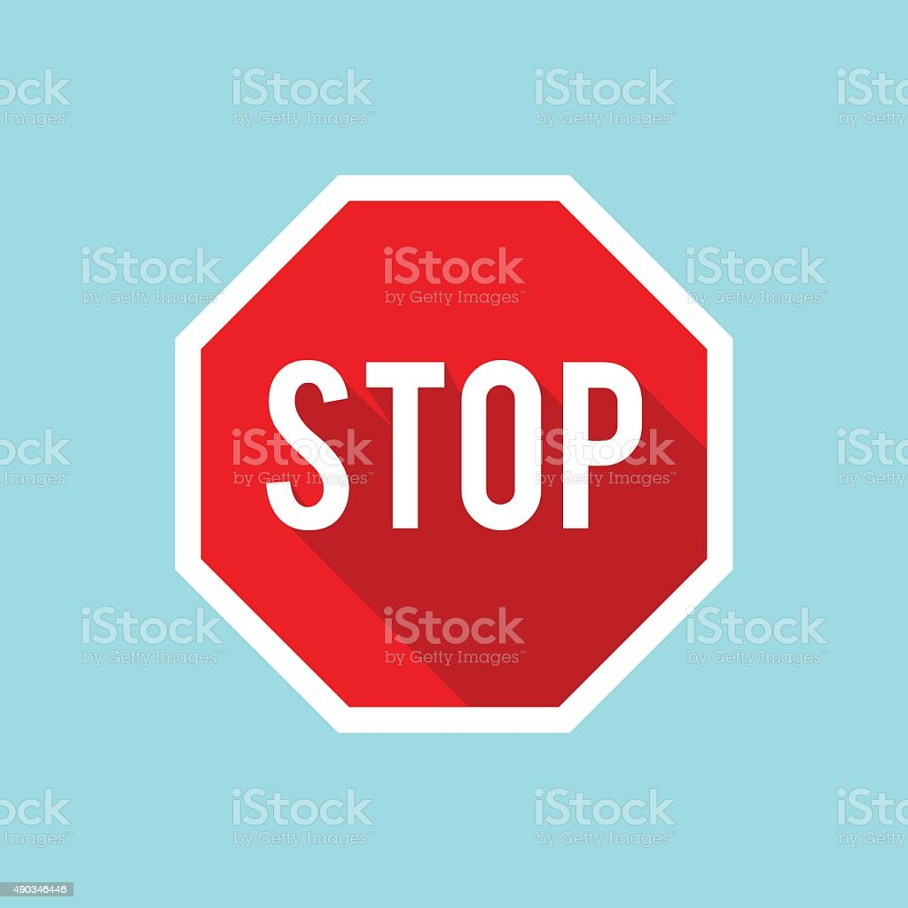 Vector Stop Sign Icon vector art illustration