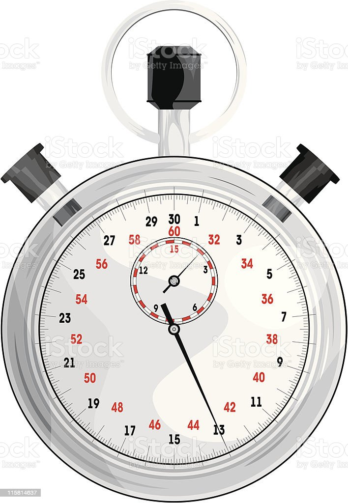 vector stopwatch royalty-free stock vector art