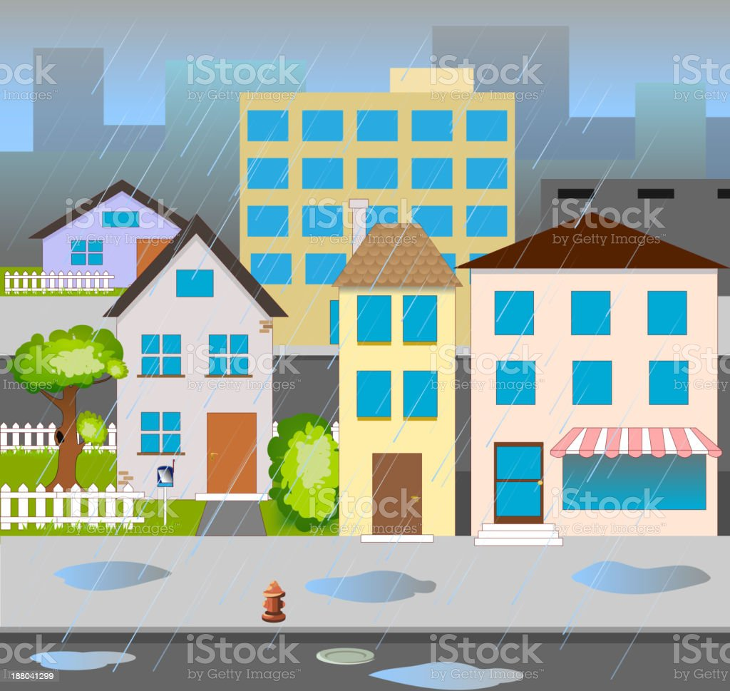 vector street royalty-free stock vector art