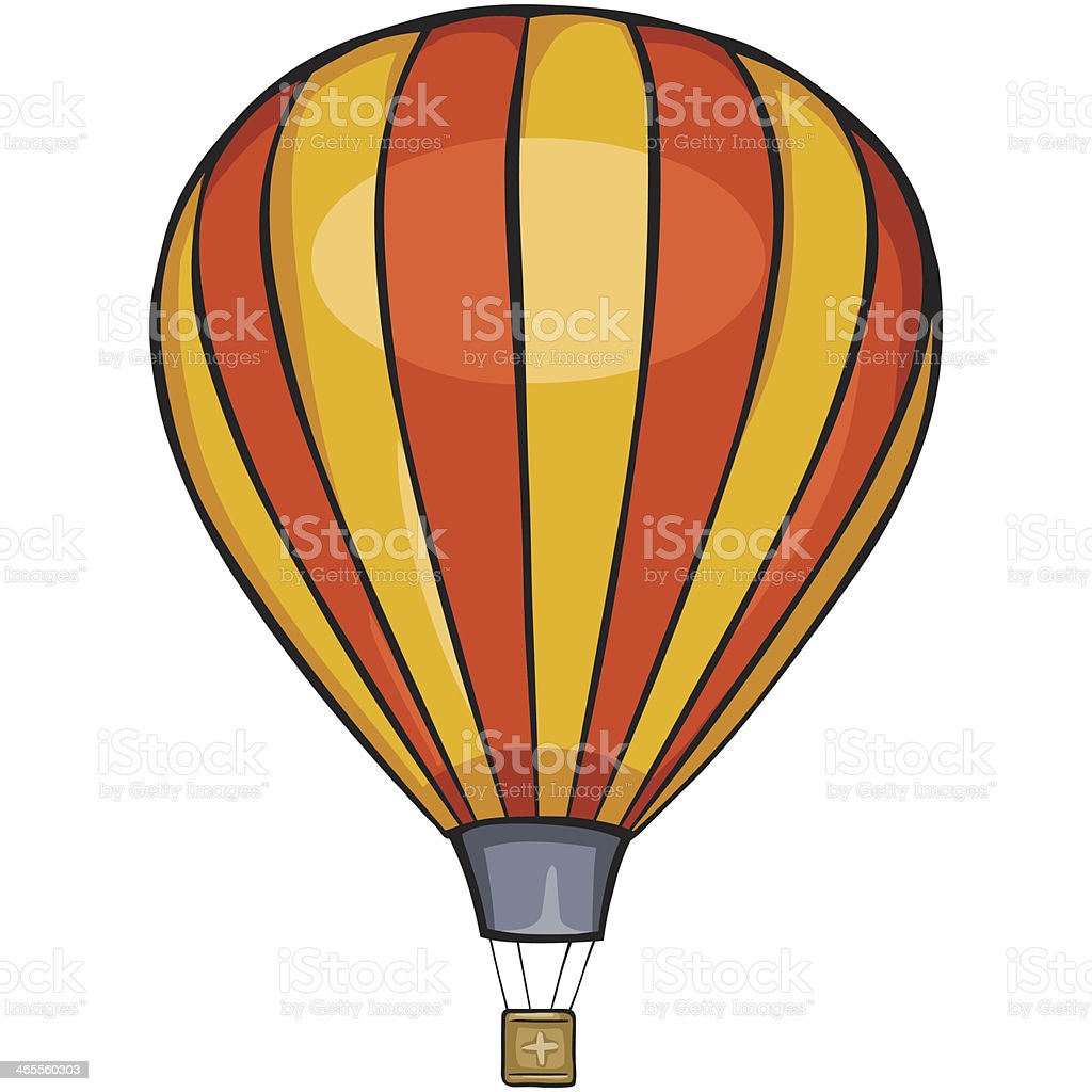 vector striped air balloon royalty-free stock vector art