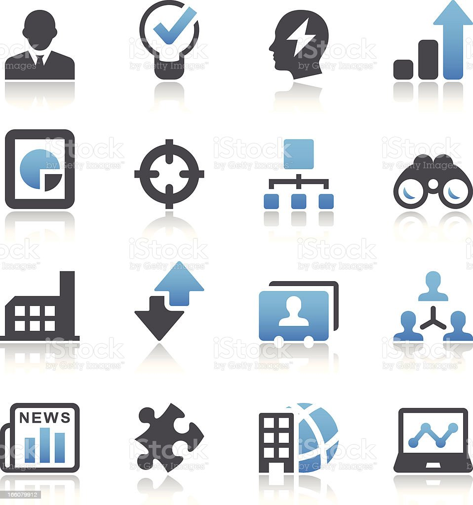 Vector style business symbols vector art illustration