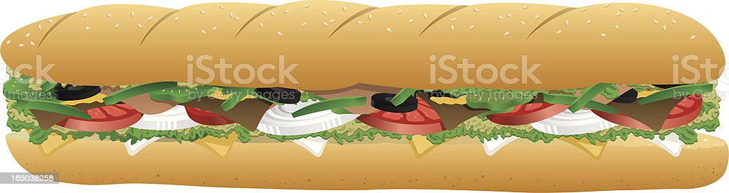 Vector Sub Sandwich vector art illustration