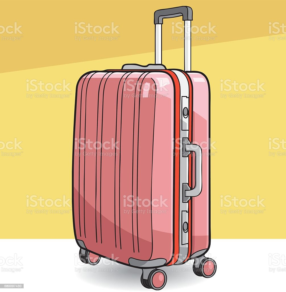 Vector suitcase vector art illustration