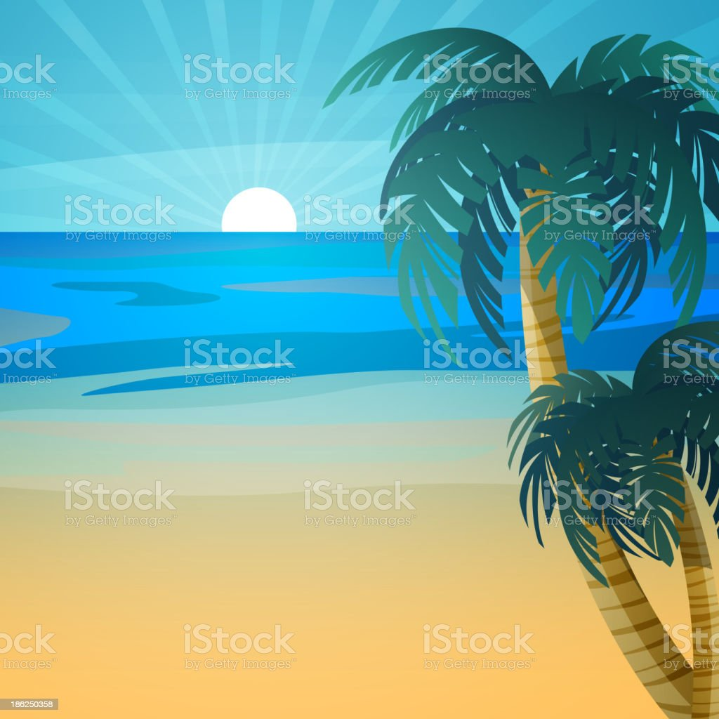 Vector Summer Background royalty-free stock vector art