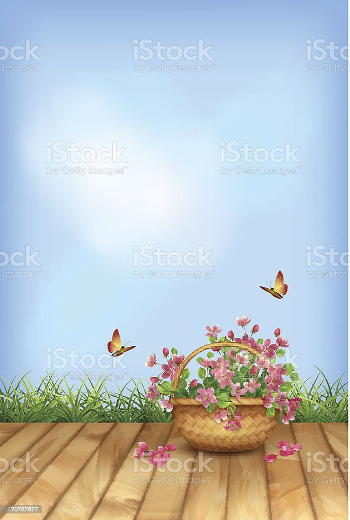Vector summer flowers natural background? royalty-free stock vector art