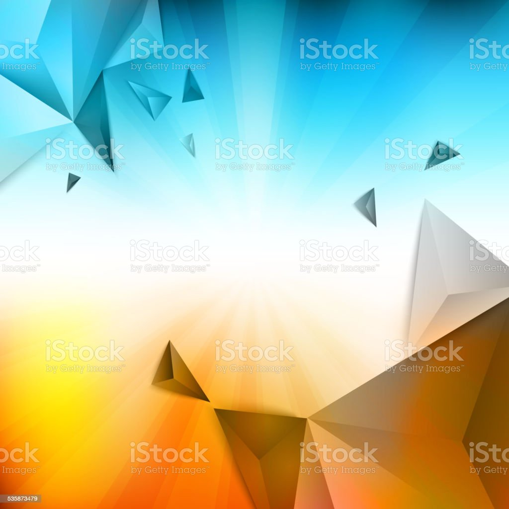 Vector summer pattern of geometric shapes vector art illustration