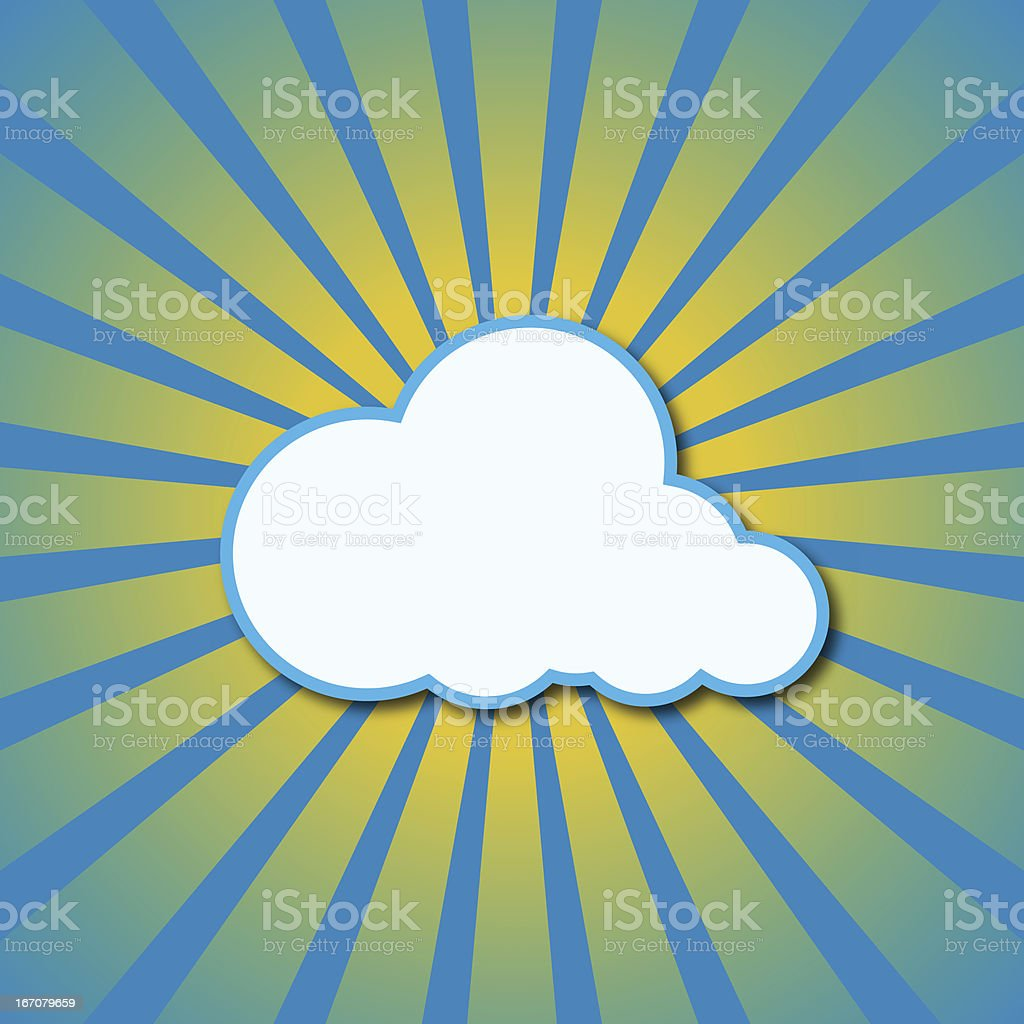 Vector sun rays and cloud. royalty-free stock vector art