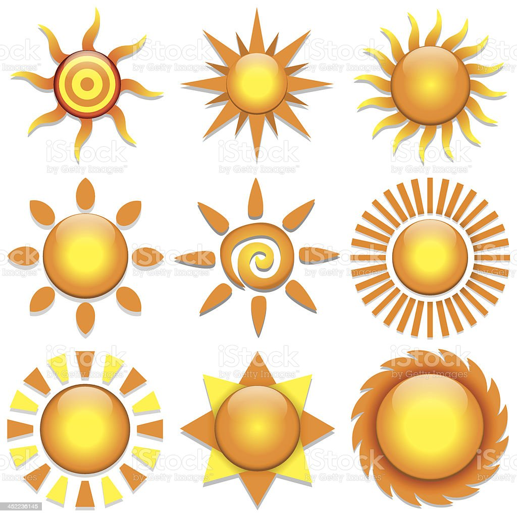 Vector Sun Set royalty-free stock vector art