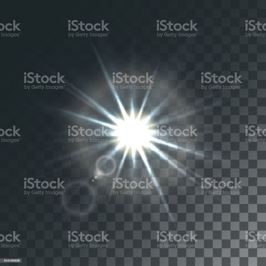 Vector sun with light effects vector art illustration