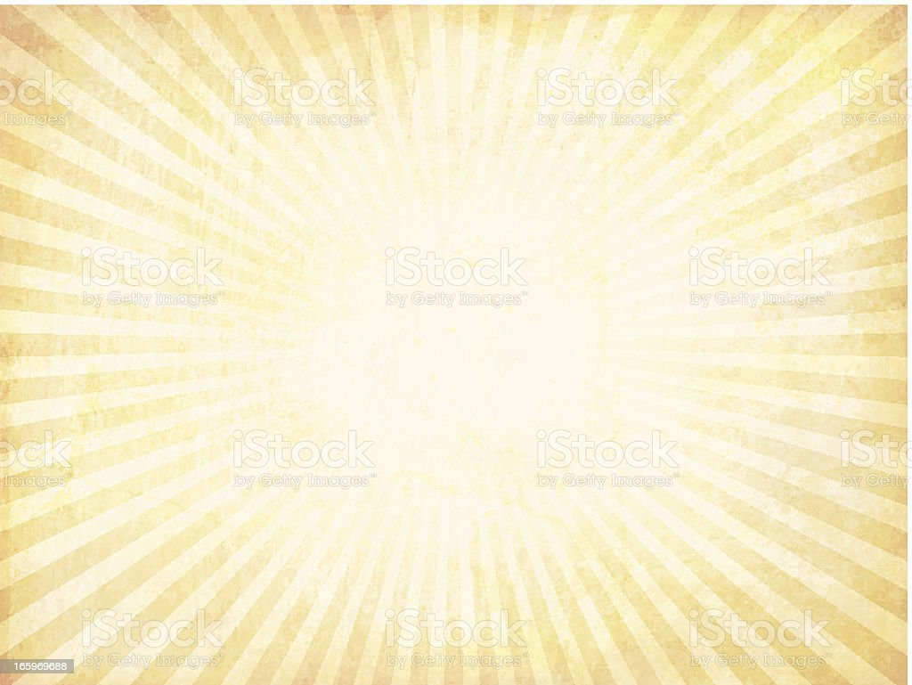 Vector sunburst background with a grungy look royalty-free stock vector art