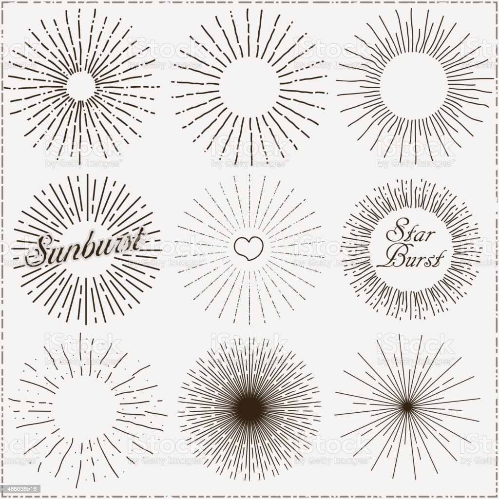 Vector Sunburst Shapes vector art illustration