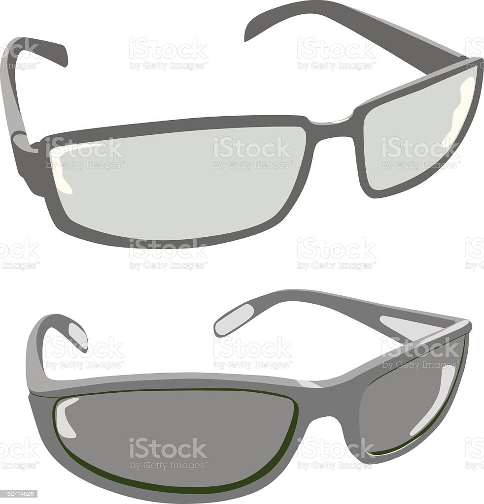 Vector sunglasses vector art illustration