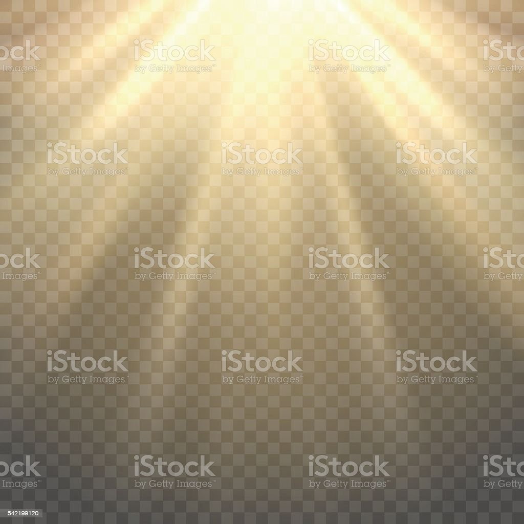 Vector sunlight on transparent background vector art illustration
