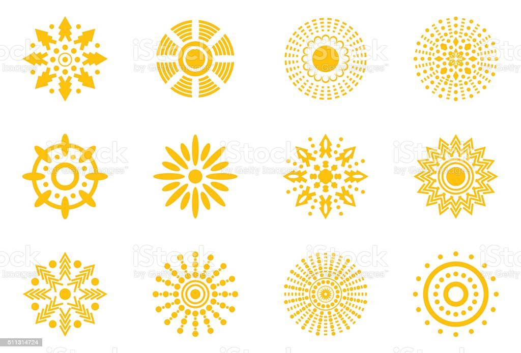 Vector Suns Icon vector art illustration