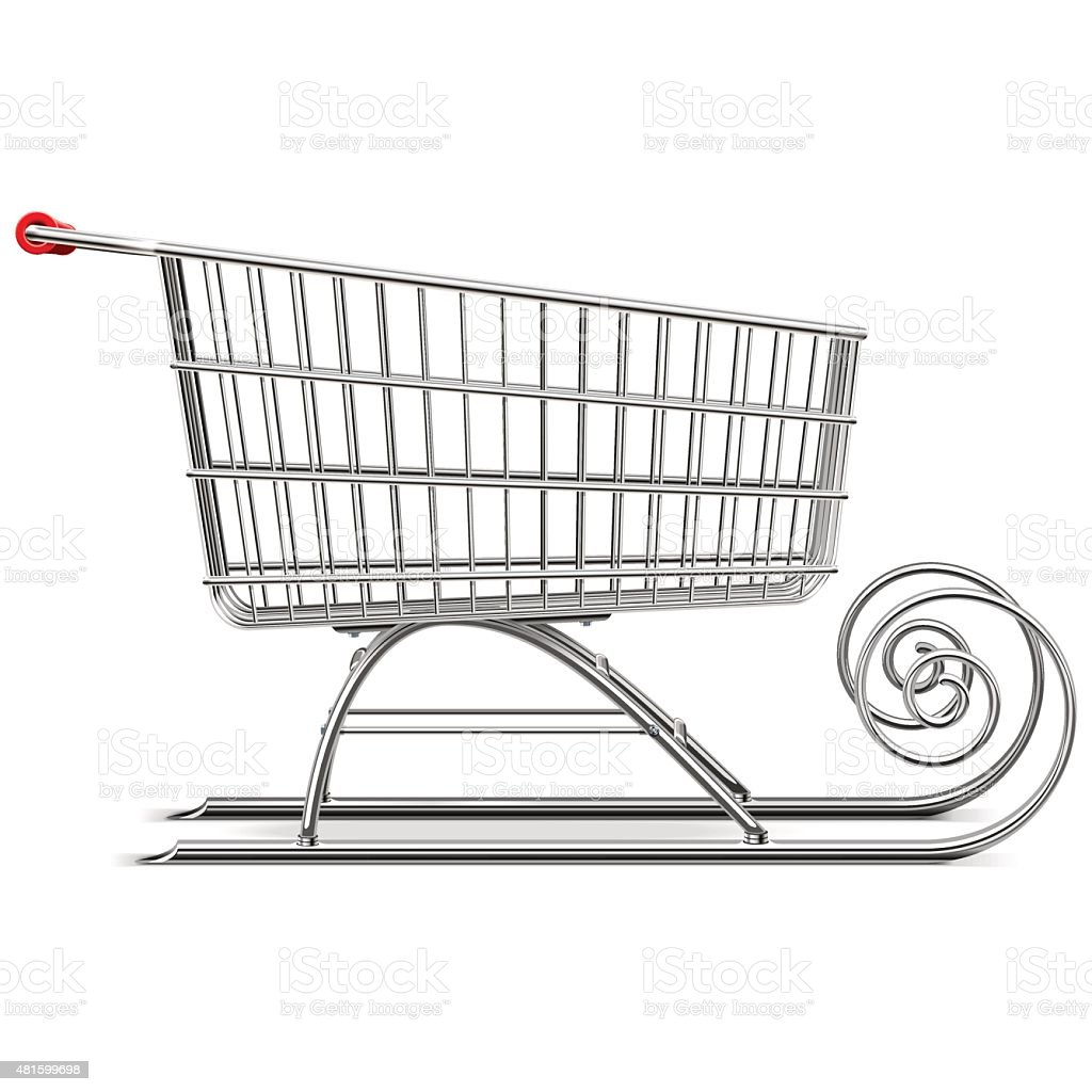 Vector Supermarket Sleigh vector art illustration
