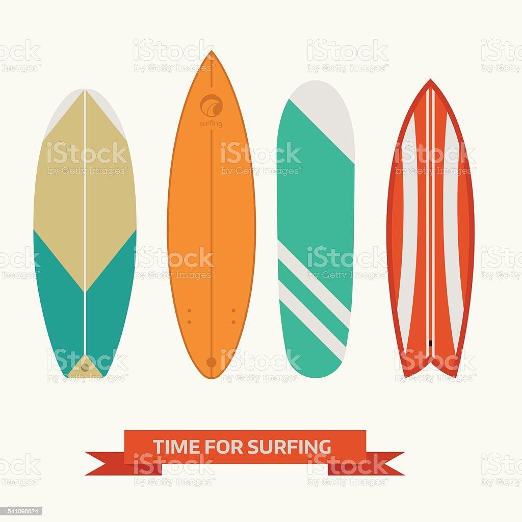 Vector Surfboard Collection vector art illustration