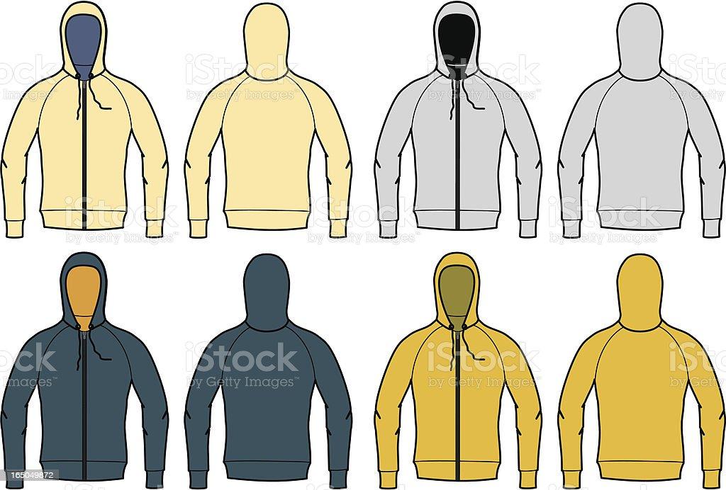 vector sweatshirts vector art illustration