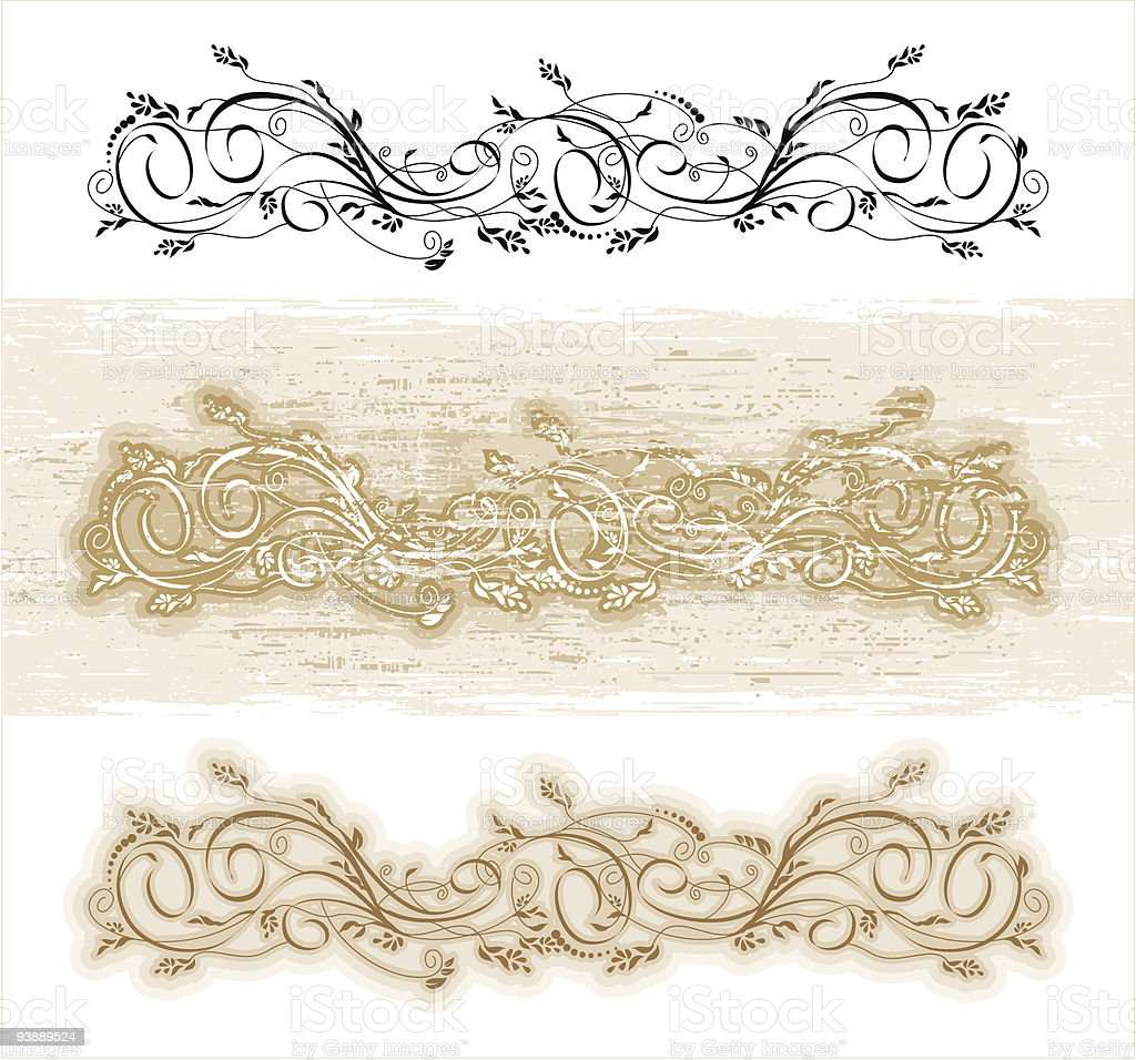 Vector swirl royalty-free stock vector art