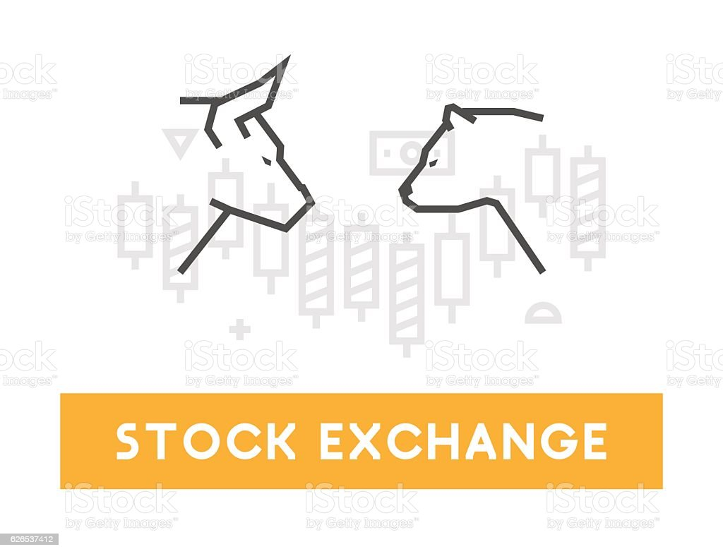 Vector symbol for stock market and stock exchange. vector art illustration