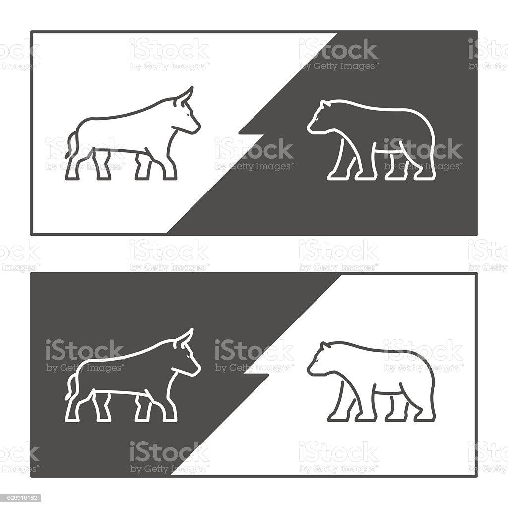 Vector symbol for stock market. vector art illustration