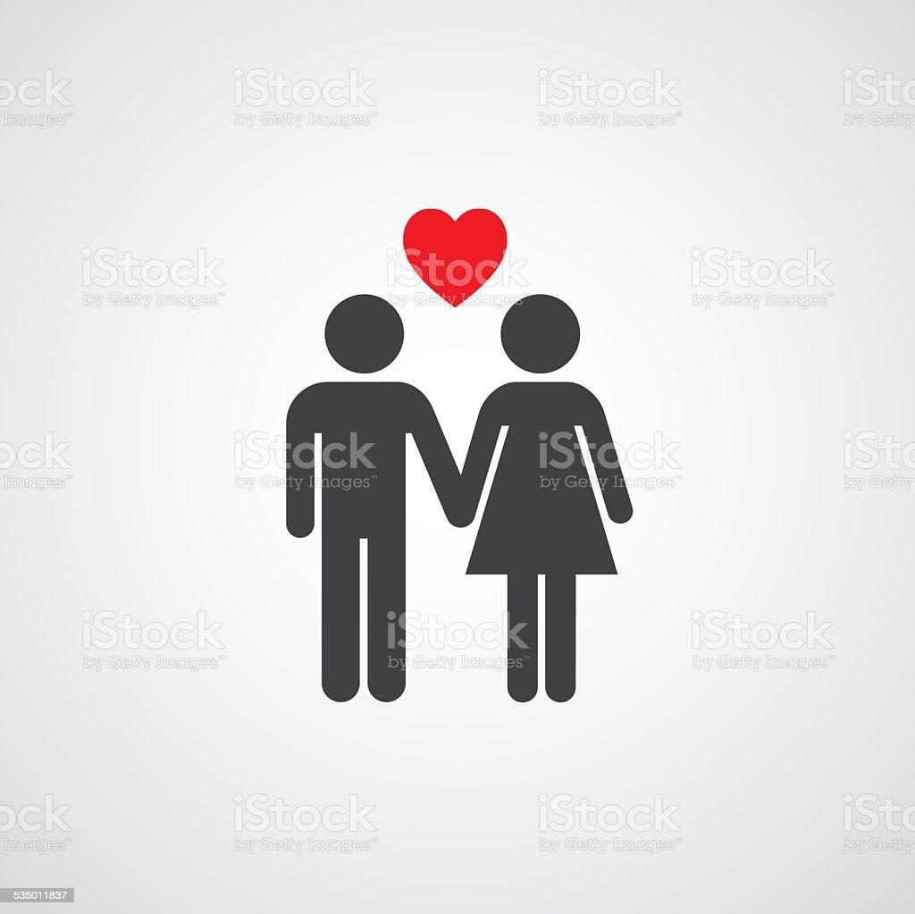 vector symbol  man and woman vector art illustration