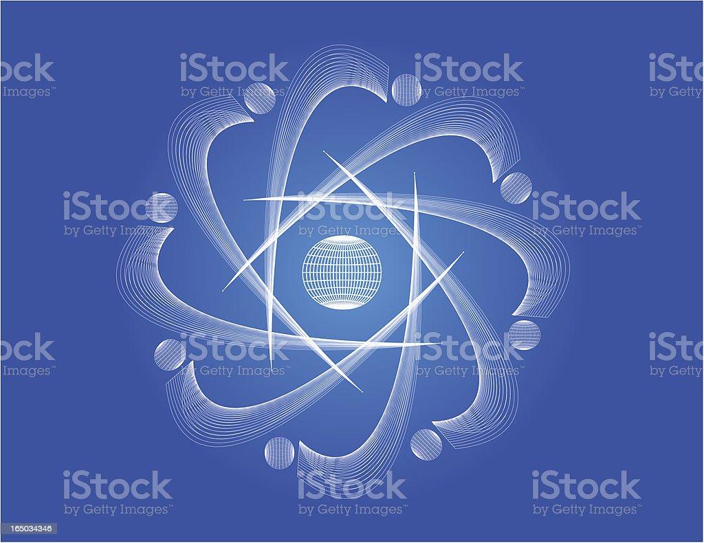Vector Symbol Of Atom vector art illustration