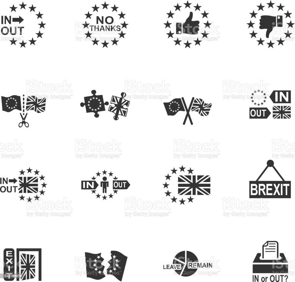 vector symbol of brexit vector art illustration