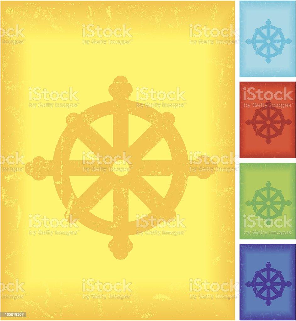 Vector Symbol of Buddhism royalty-free stock vector art
