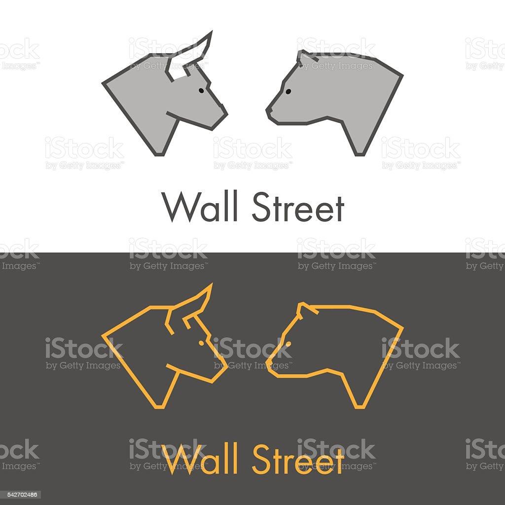 Vector symbol work on Wall Street. vector art illustration