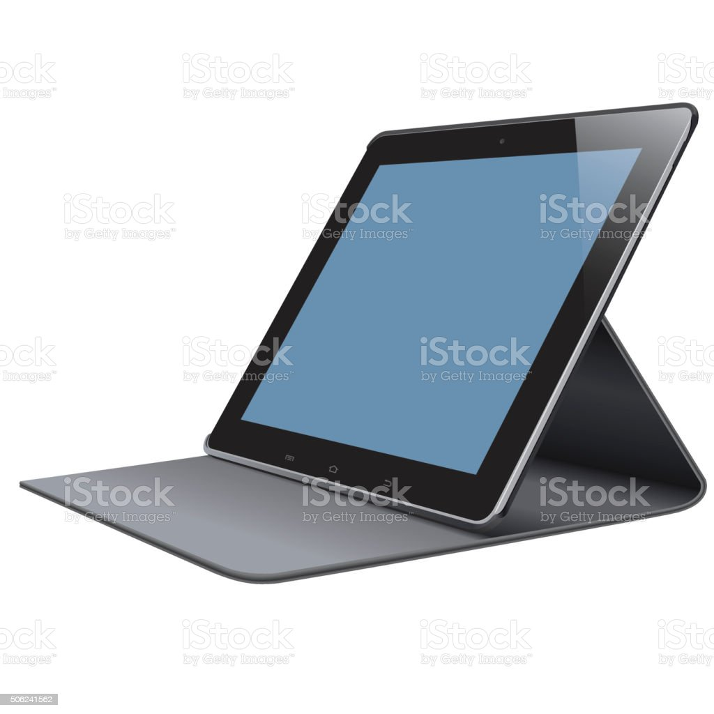 Vector Tablet PC vector art illustration