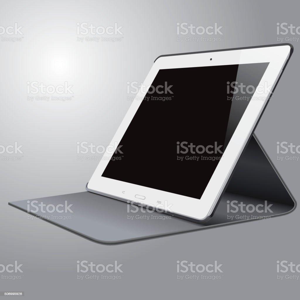 Vector tablet PC vector art illustration