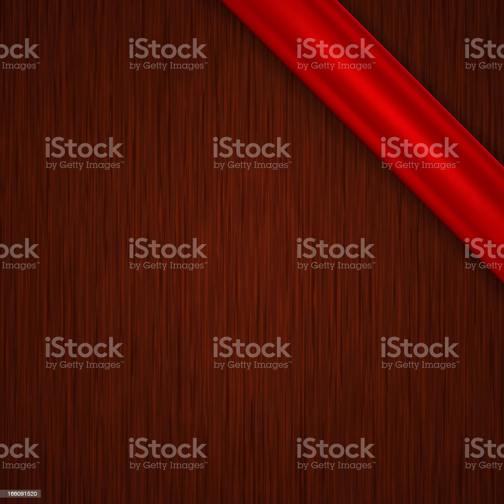 Vector tag with wood texture vector art illustration
