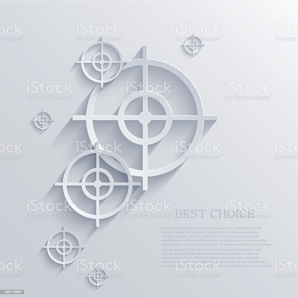 Vector target background. Eps10 vector art illustration