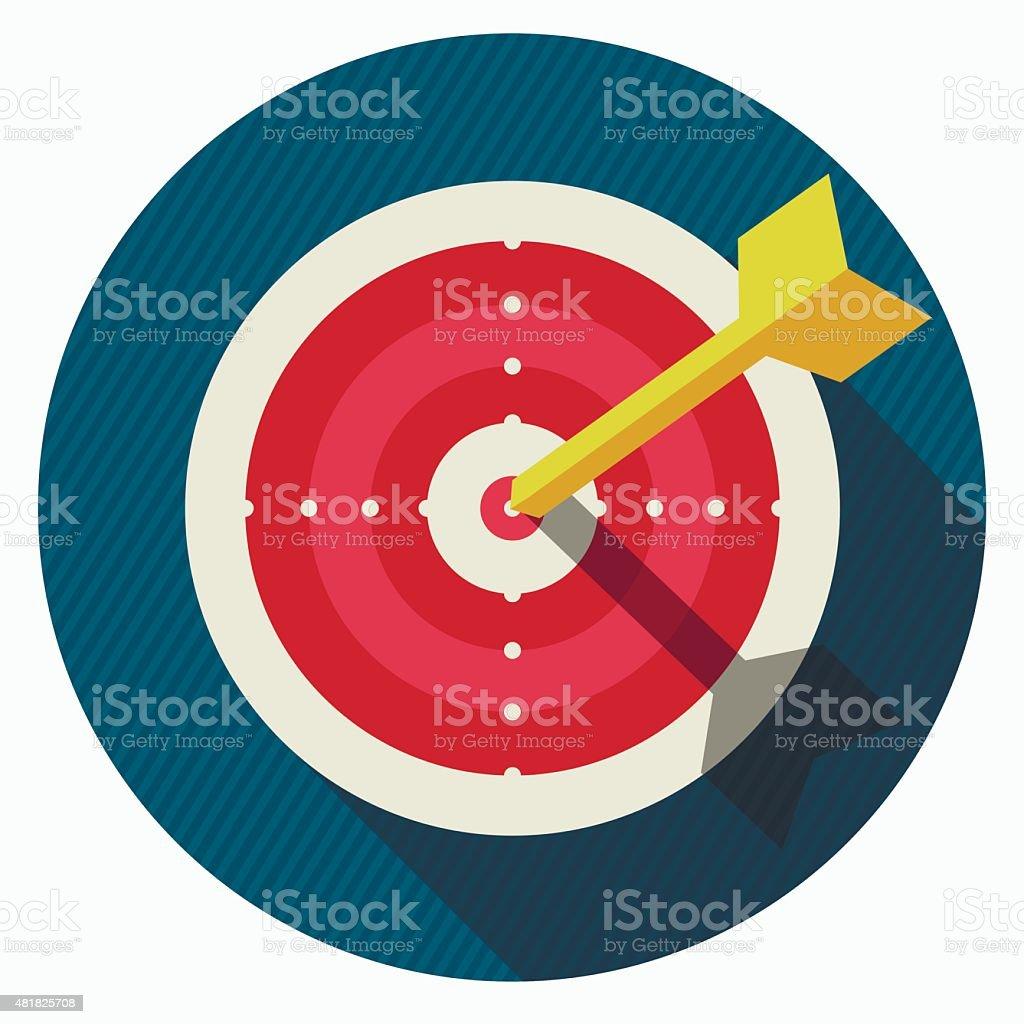 Vector target icon vector art illustration
