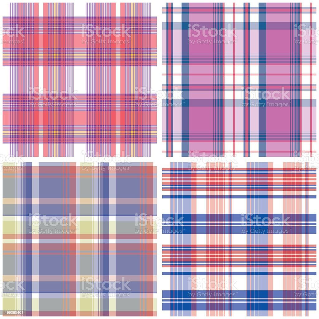 Vector tartan textile texture set. royalty-free stock vector art