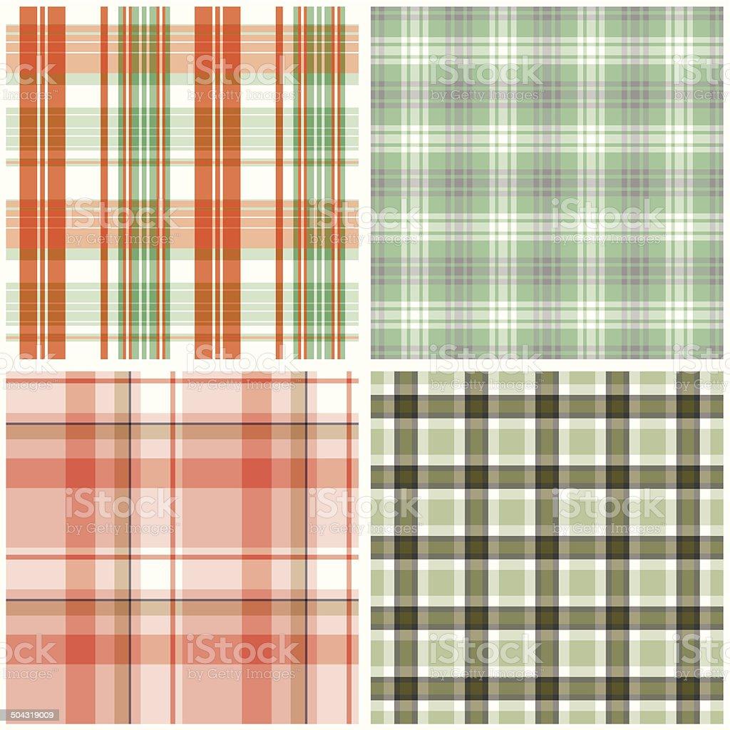 Vector tartan textile texture set. royalty-free stock vector art