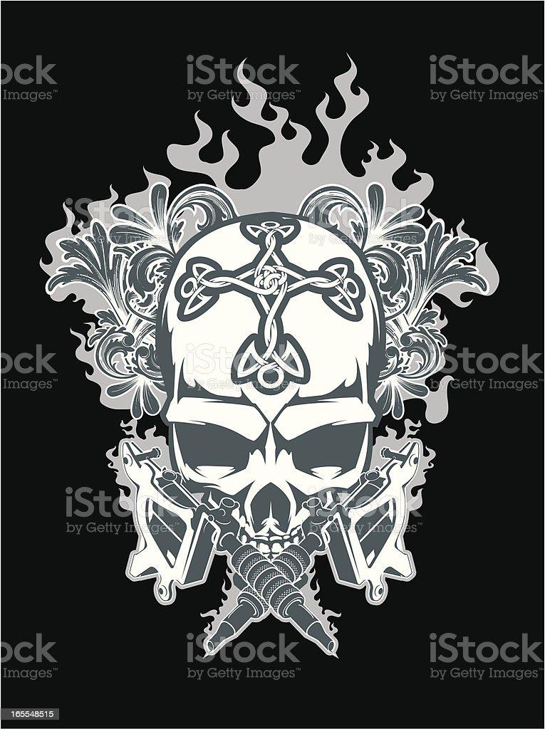 vector tattoo skull vector art illustration