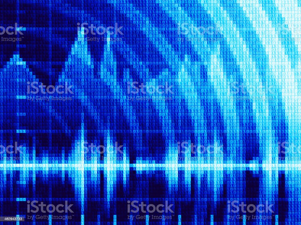 Vector techno background vector art illustration