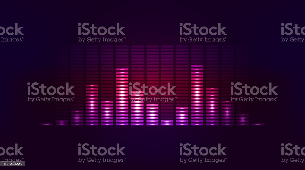 Vector techno background with vibration sound. Equalizer vector art illustration