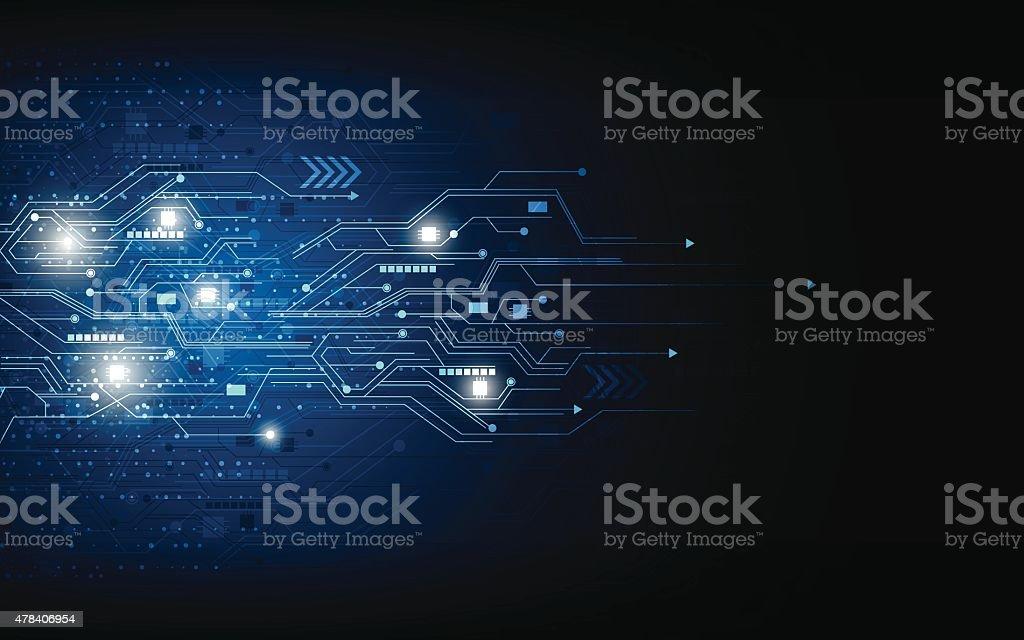 vector technology computer concept background vector art illustration