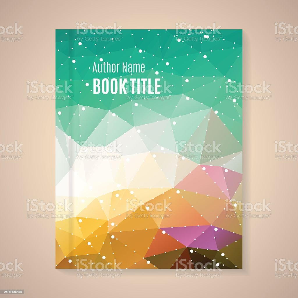 Vector template for book title vector art illustration