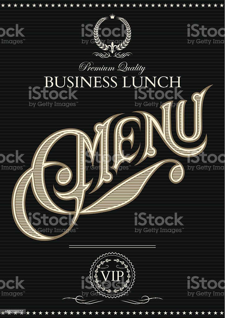 vector template for cover of the menu royalty-free stock vector art