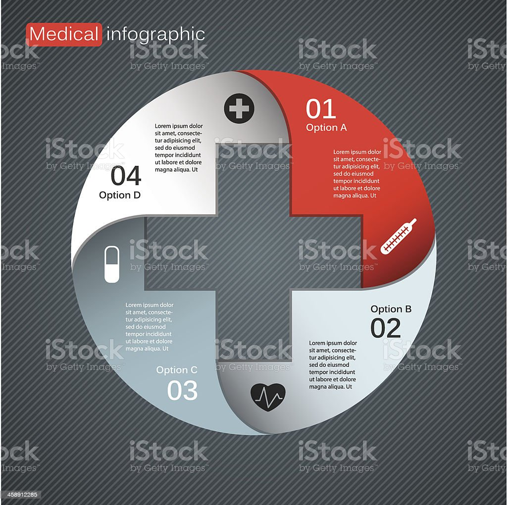 Vector template for medical project royalty-free stock vector art