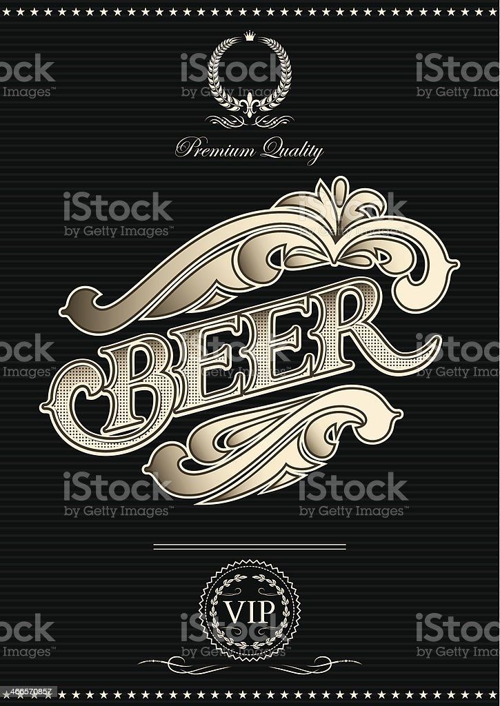 vector template for the cover of beer menu royalty-free stock vector art