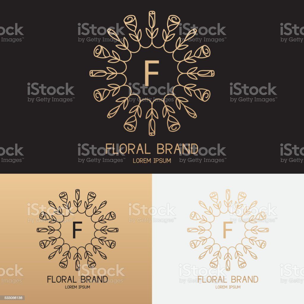 Vector template of symbol in trendy linear style royalty-free stock vector art