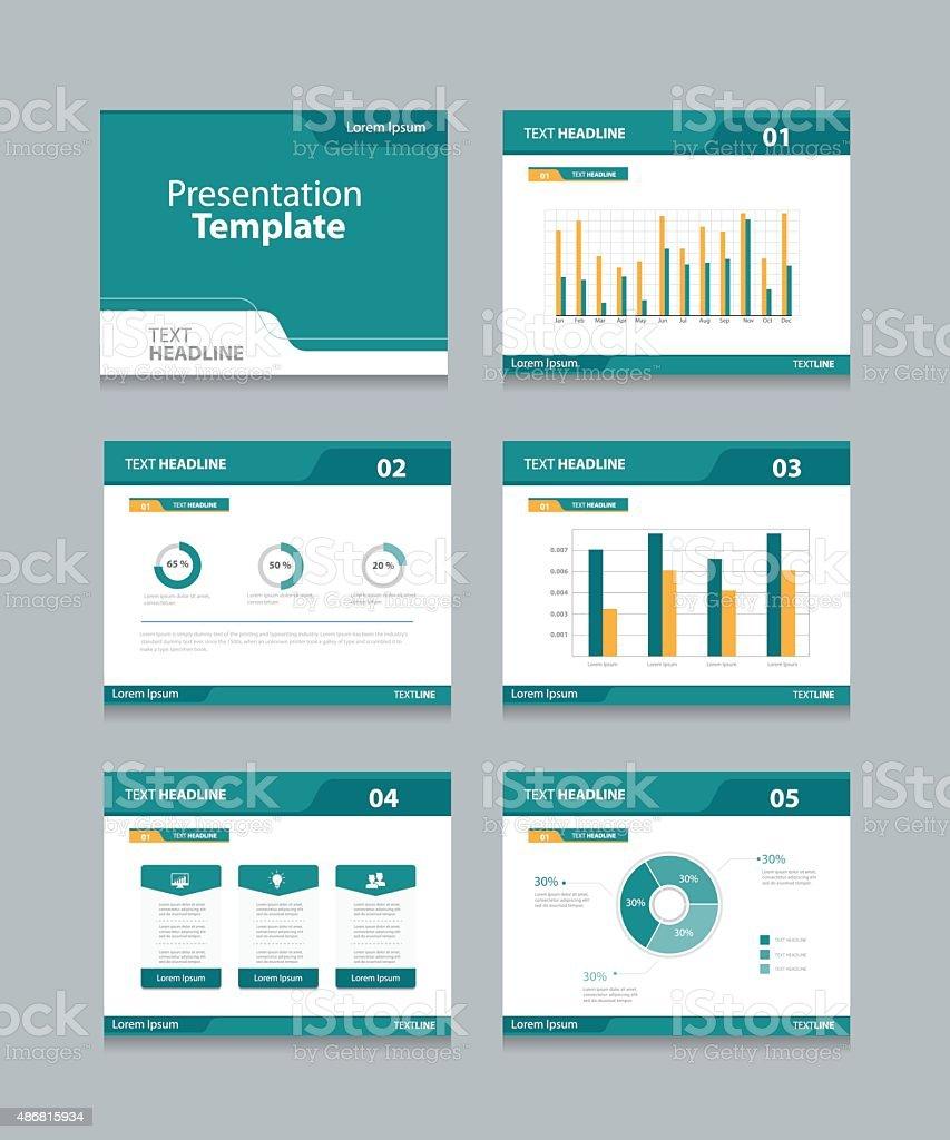 Vector template presentation slides background design vector art illustration