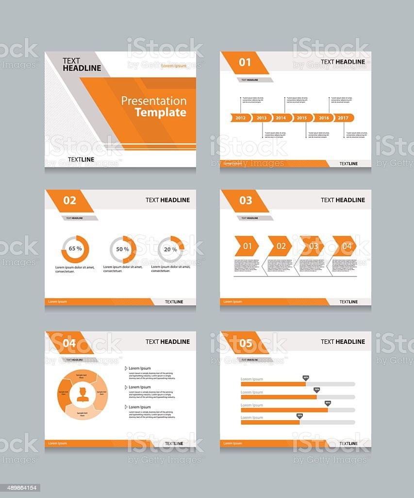 Vector template presentation slides background design vector art illustration