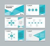 Vector template presentation slides background design
